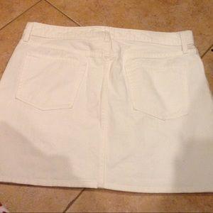 Gap white denim Jean skirt